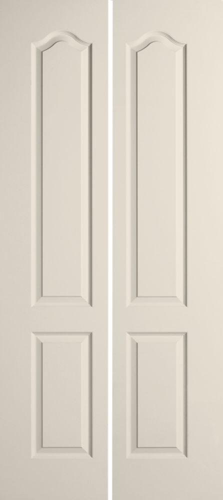 masonite 36 inch x 80 inch 2 panel bifold door the home depot canada