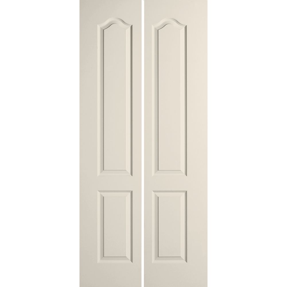 Masonite 36-inch x 80-inch 2-Panel Arch Top Textured Bi-fold Door