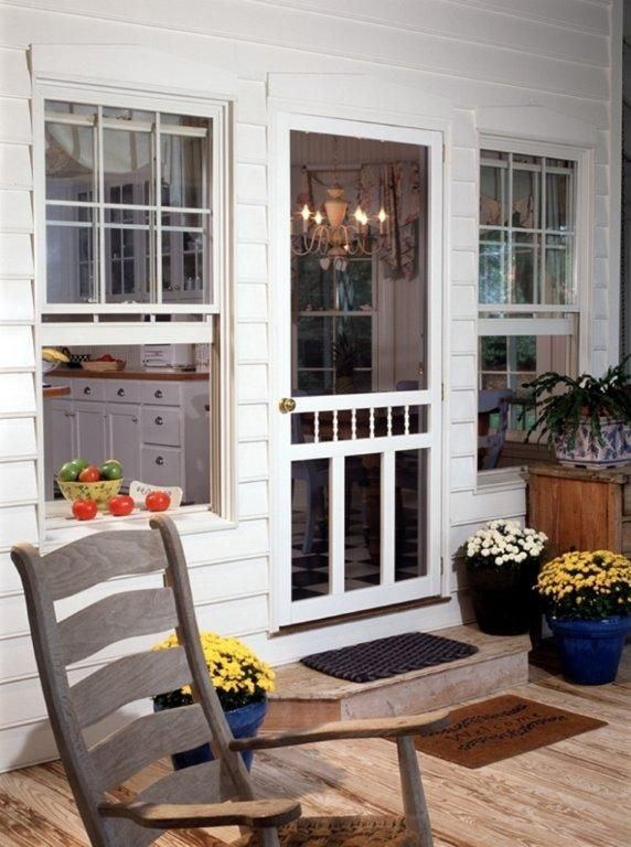 Waccamaw Solid Vinyl Screen Door 34 Inch x 80 Inch