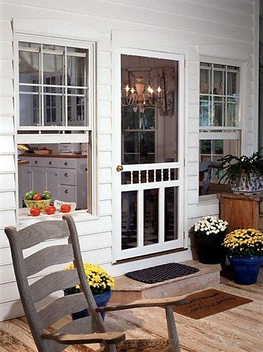 Diy 34 Inch X 80 Inch Waccamaw Solid Vinyl Screen Door The Home