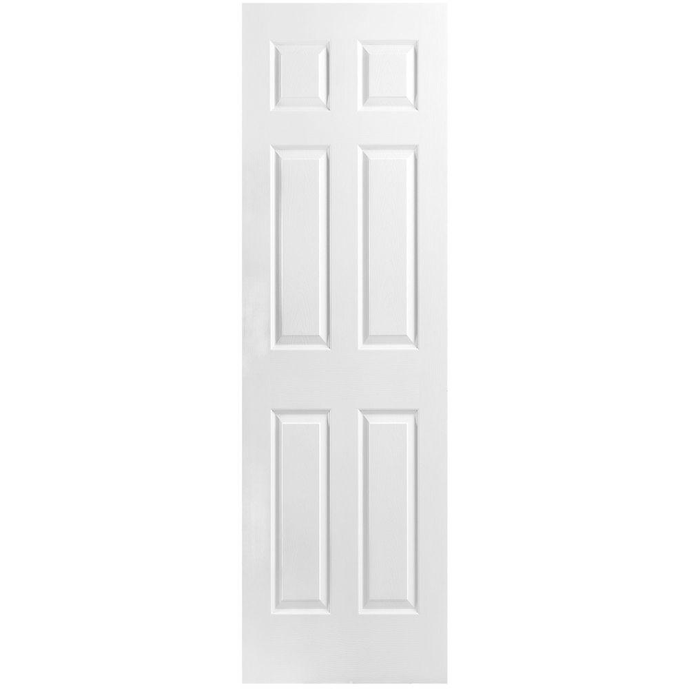 Porte unie texturée à 6 panneaux 24 po x 80 po