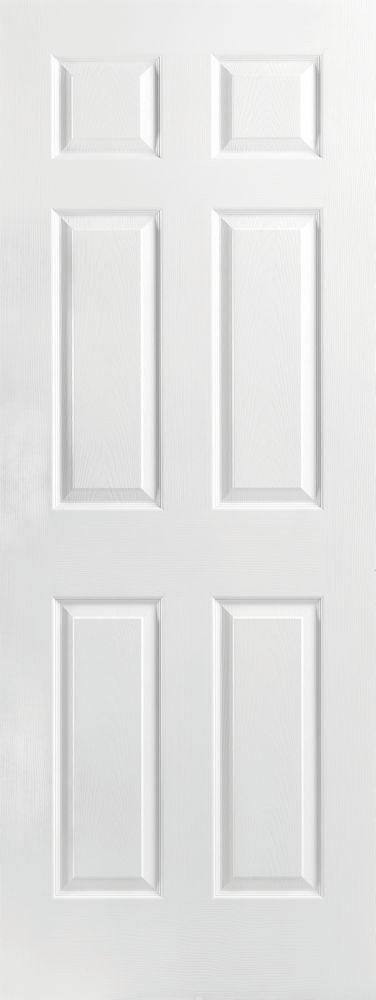 Masonite 32-inch x 80-inch x 1 3/8-inch Molded 6 Panel Interior Door