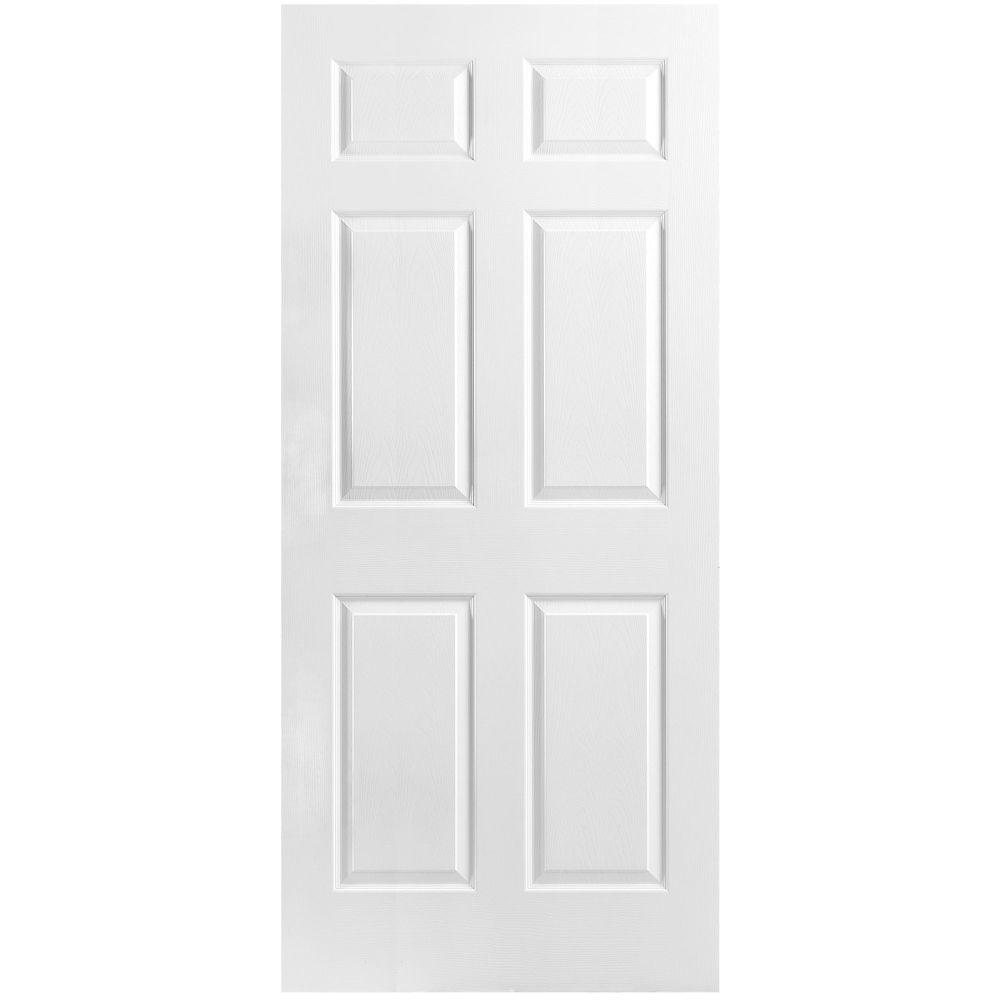 36-inch x 80-inch x 1 3/8-inch 6 Panel Door Slab