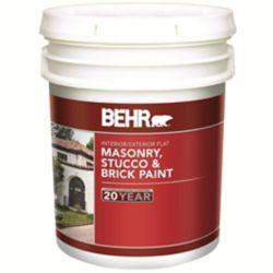 BEHR Peinture pour Maçonnerie, Stuc & Brique Fini Mat, Intérieur/Extérieur  - 18,63L