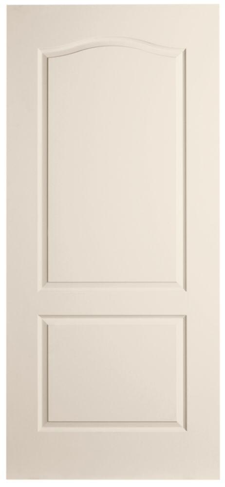 Porte unie texturée 2 panneaux - Haut arqué 30 po x 80 po
