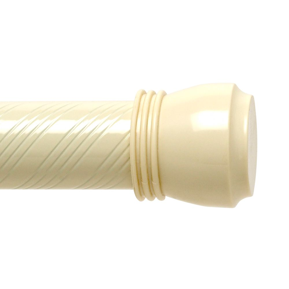 72 Inch Swirl Tension Rod - Vanilla