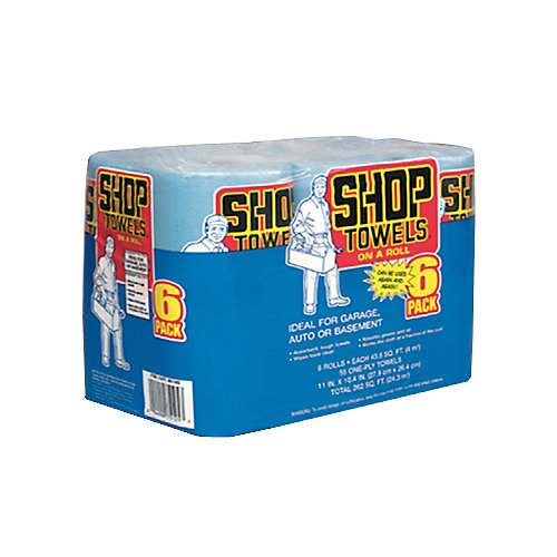 Shop Towels on a Roll (6-Pack)