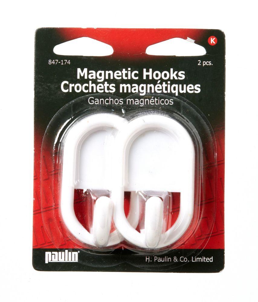 Magnetic Hooks White