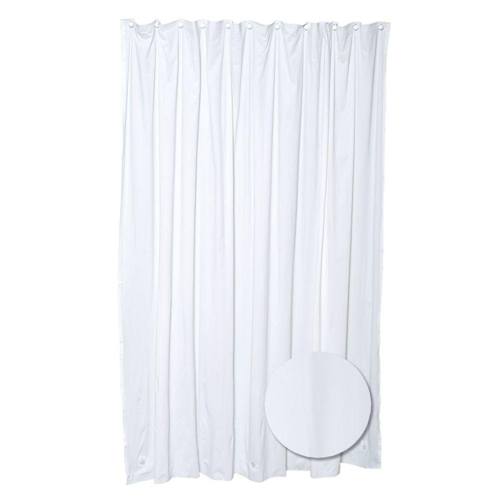 Rideau de douche épais blanc