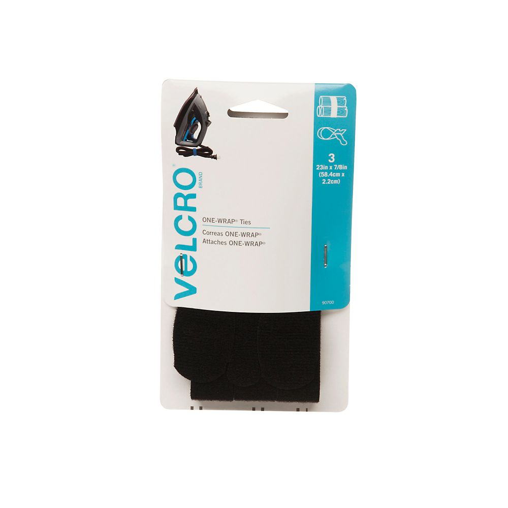 Velcro 23 in. X 7/8 in. One Wrap Straps 3 Pack
