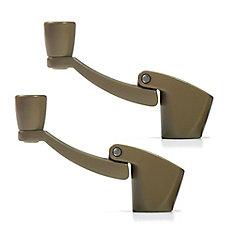 Fold Away Handle Window Crank in Bronze (2 Pack)