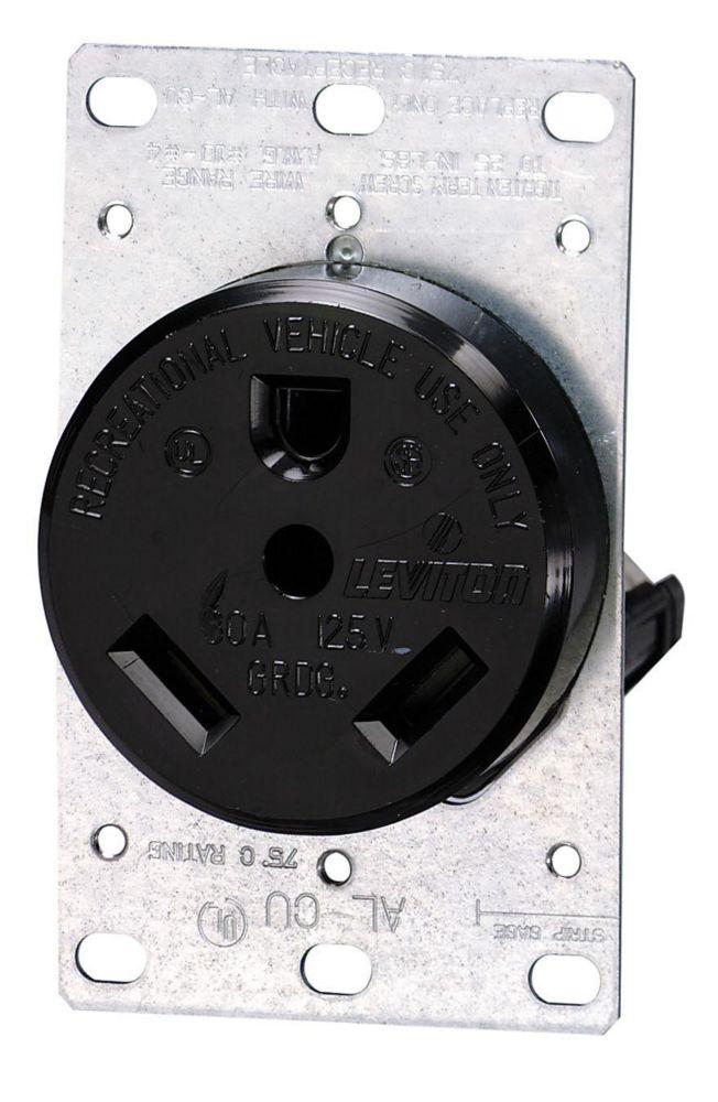 3P3W 125/250 Volt Single R.V. Receptacle