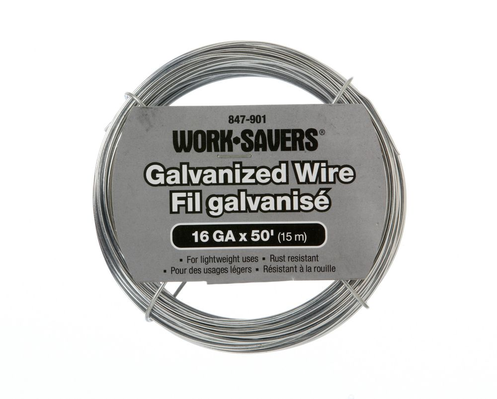 Galv. Wire-Steel Coiled 16G X 15M