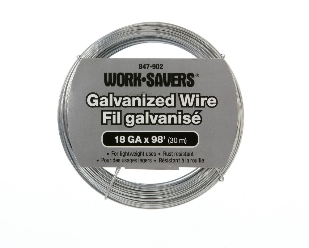 Galv. Wire-Steel Coiled 18G X 30M (C)