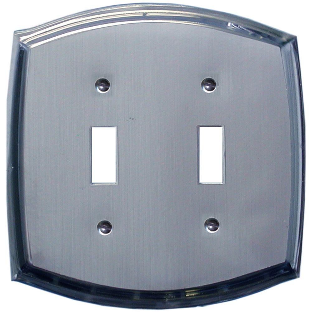 Plaque Murale Décorative Interrupteur Dbl L'acier Gravé Sur Chrome