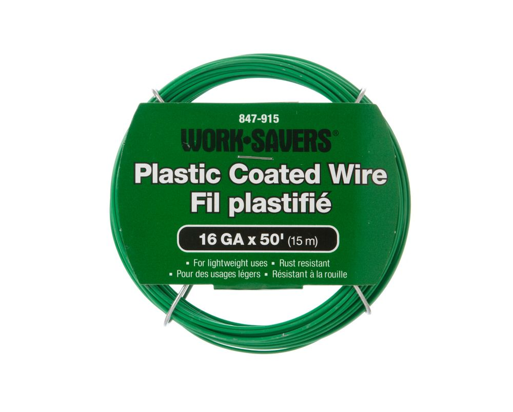 Steel Wire Green Pvc-Coiled 16Gx15M
