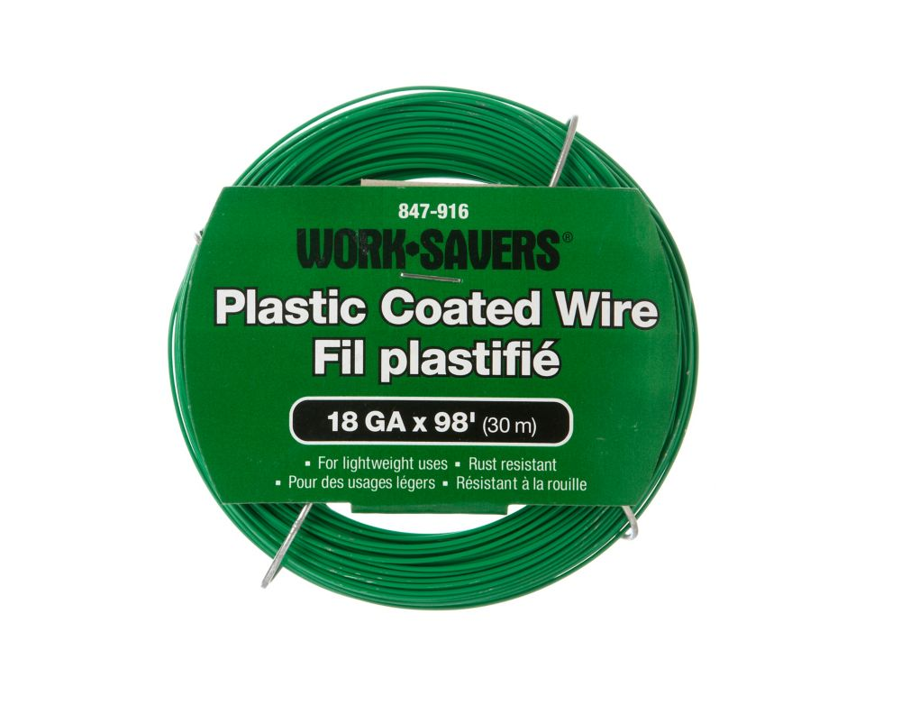 Steel Wire Green Pvc-Coiled 18Gx30M