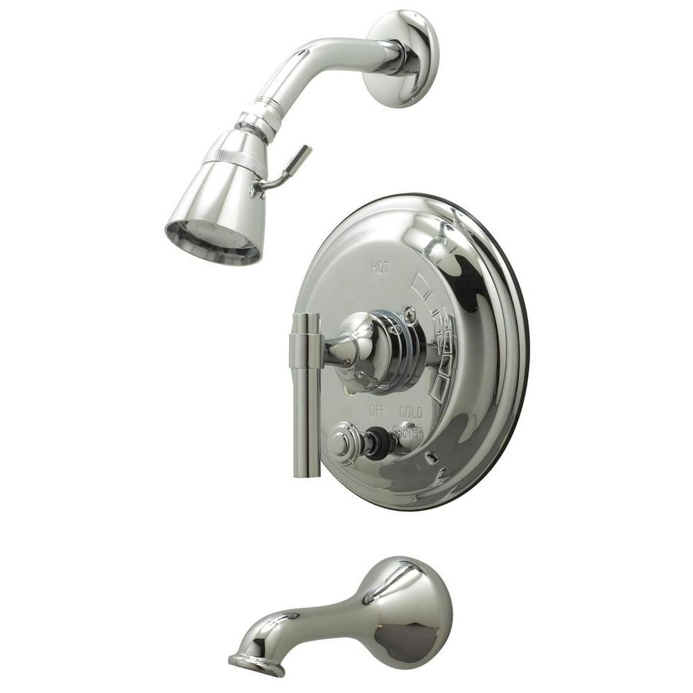 Single Lever Pressure Balance Tub & Shower Polished Chrome F2530-07 in Canada