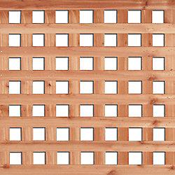 THD Treillis à ouvertures carrées en cèdre rouge de lOuest, 4 pi x 8 pi