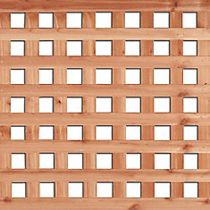 4 Feet x 8 Feet Western Red Cedar Square Lattice