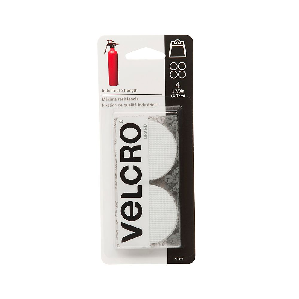 Velcro 4 in. X 2 in. Industrial Strength coins 4 Pack