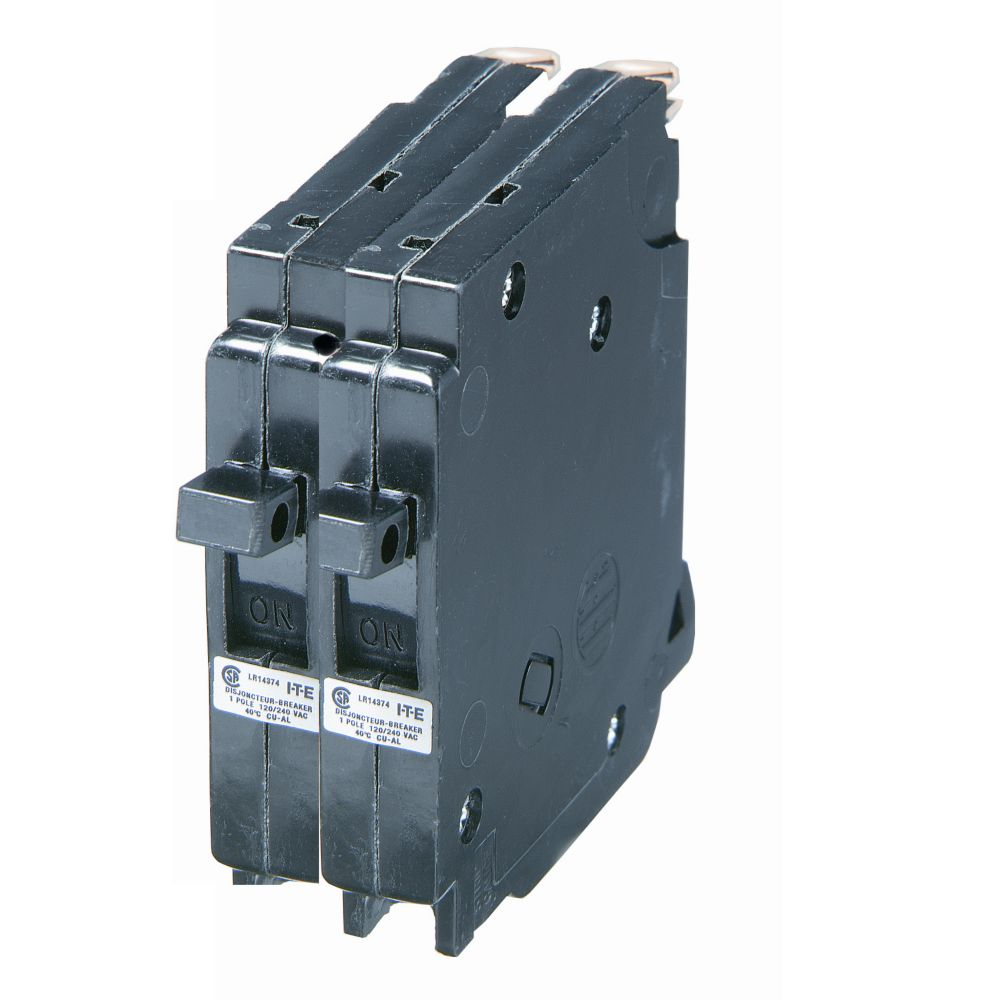 Breakers Breaker Panels Accessories The Home Depot Canada Square D 100 Sub Panel Wiring Diagram Further Generator Siemens 15a 2 Pole 120 240v Blue Line