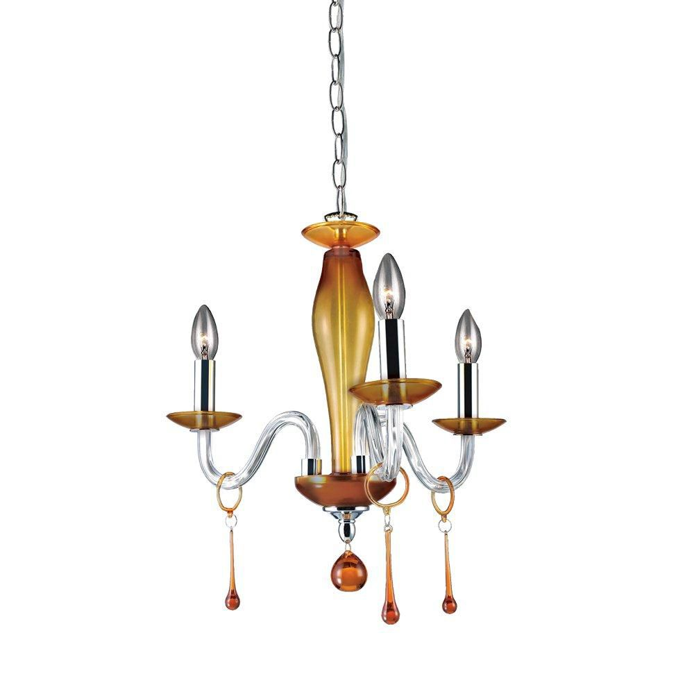Rottura Collection 3 Light Amber Chandelier