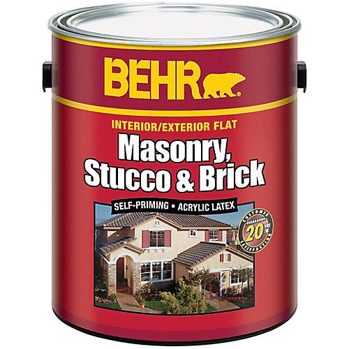 Interior/Exterior Masonry, Stucco & Brick Paint - 3.61 L Pastel Base
