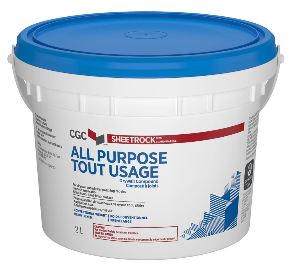 CGC CGC Sheetrock All Purpose Drywall Compound, Ready-Mixed, 2 L Pail