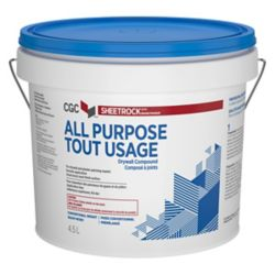 Sheetrock All Purpose Drywall Compound, Ready-Mixed, 4.5 L Pail