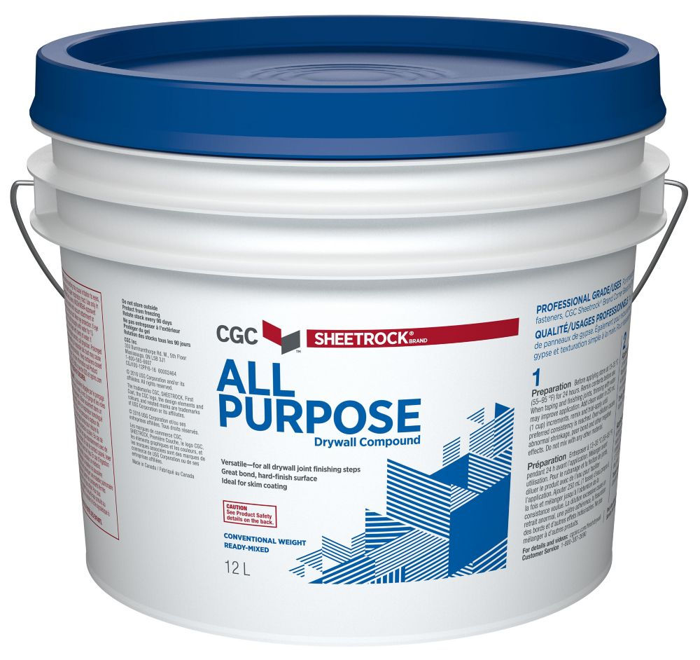 All Purpose Drywall Compound, Ready Mixed, 20 kg Pail
