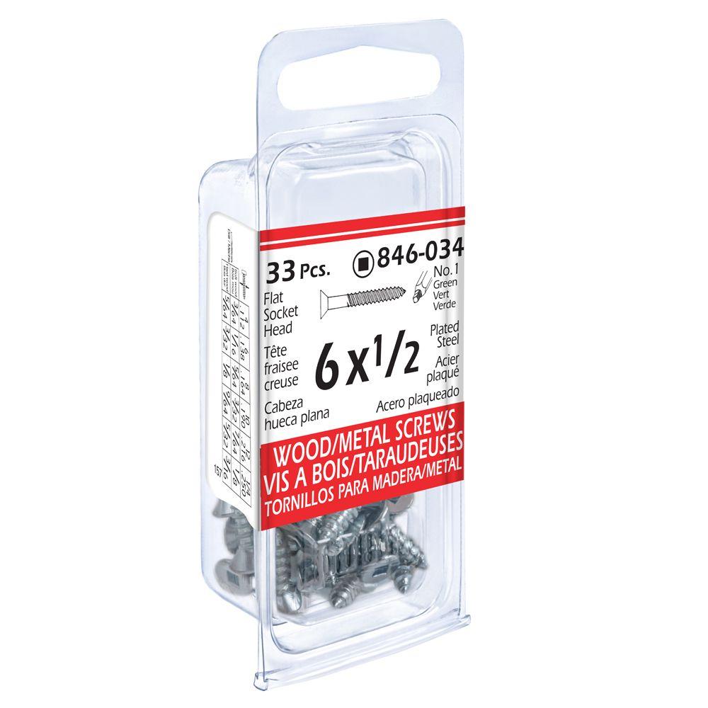 Paco 6x1/2 Flxoc Wd/Mtl 33Pc Screw