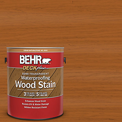 behr semi transparent deck fence siding wood stain cedar
