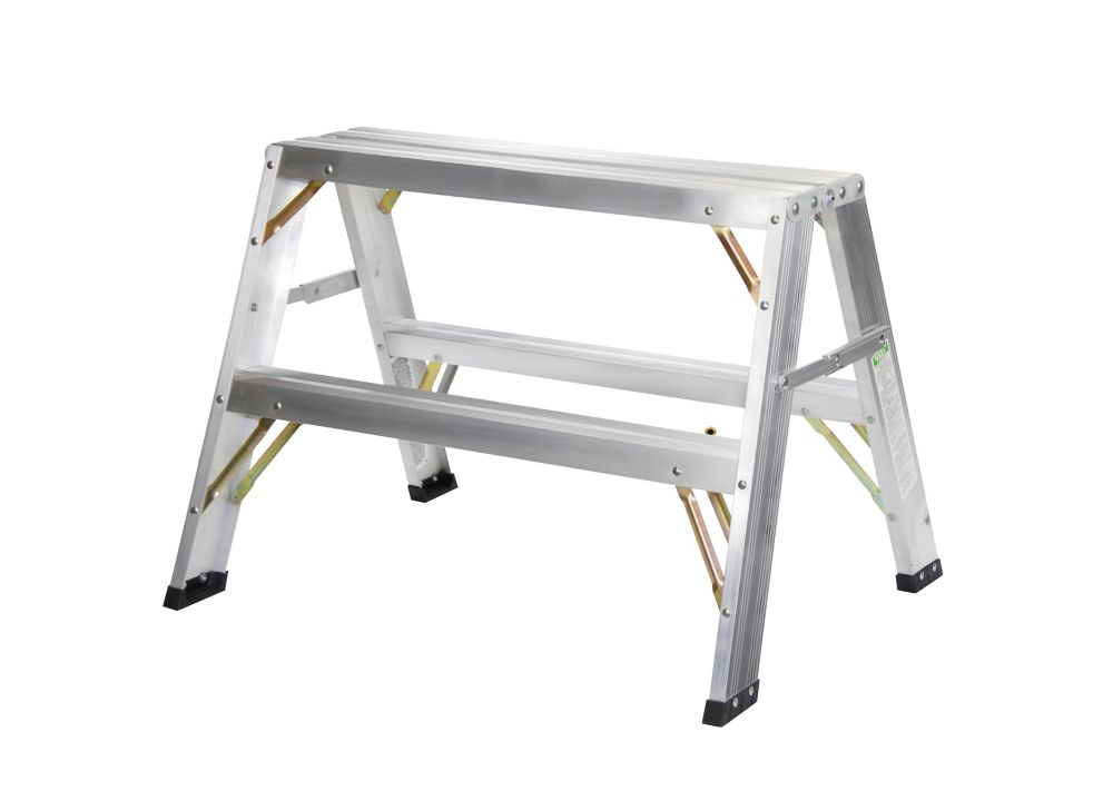Husky 23 Inch Folding Sawhorse 2 Pack The Home Depot