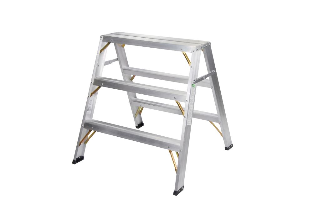 metaltech metaltech aluminum scaffold platform with plywood deck    contractor series    10 foot