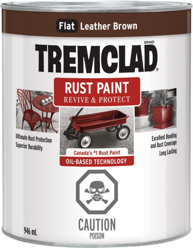 TREMCLAD Rust Paint - Leather Brown (946ml)