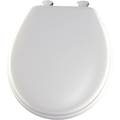 easy home toilet seat. Round Wood Toilet Seat With Easy Clean  Change Hinge In White Bemis