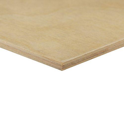 Alexandria Moulding 1/4 inch x 2 Feet x 4 Feet Birch Plywood Handy Panel