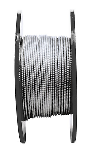KingChain 1/8 inX3/16 inX250 ft 7X7 Aircra ft Cable-Pvc- Per Foot ...
