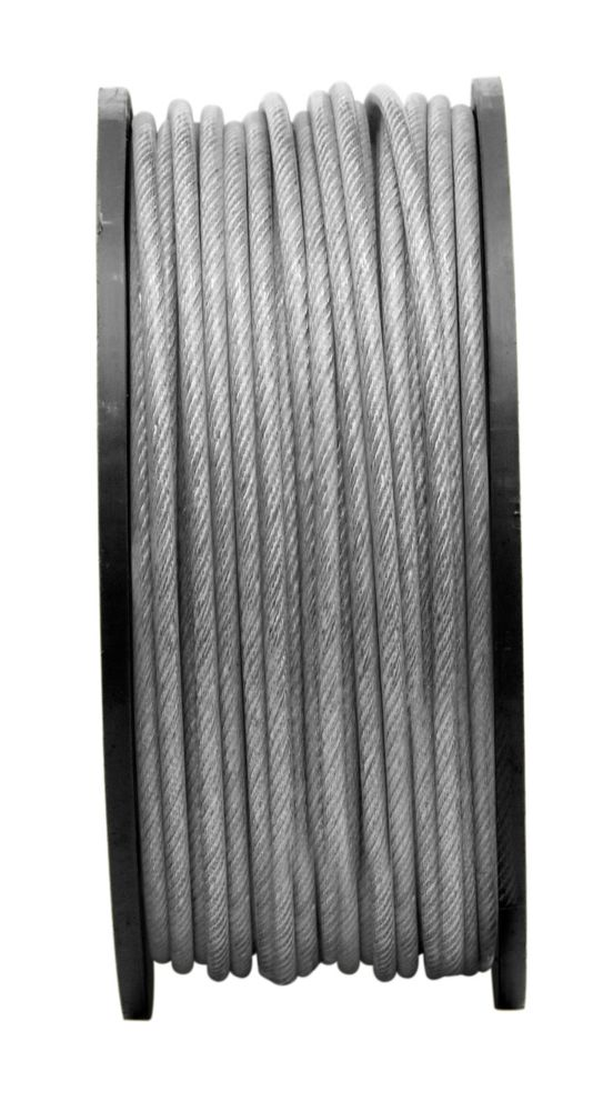 3/16 inX1/4 inX250 ft 7X7 Aircra ft Cable-Pvc- Per Foot
