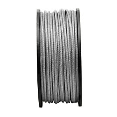 3/16 inX1/4 inX250 ft 7X7 Aircra ft Cable-Pvc- Per Foot