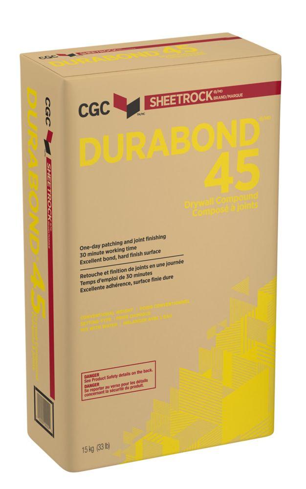Composé à joint à prise chimique DURABOND 45, sac de 15 kg