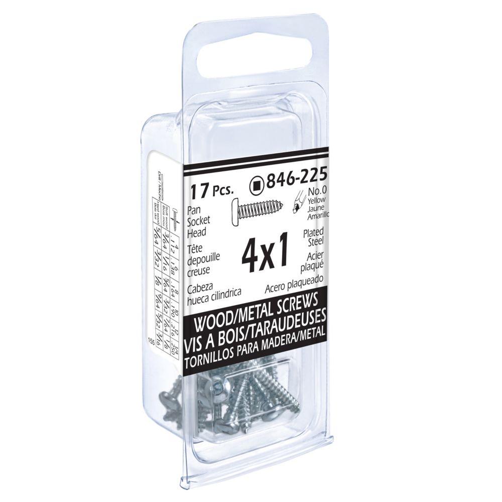 4x1 Pon Soc Wd/Mtl 17Pc Screw