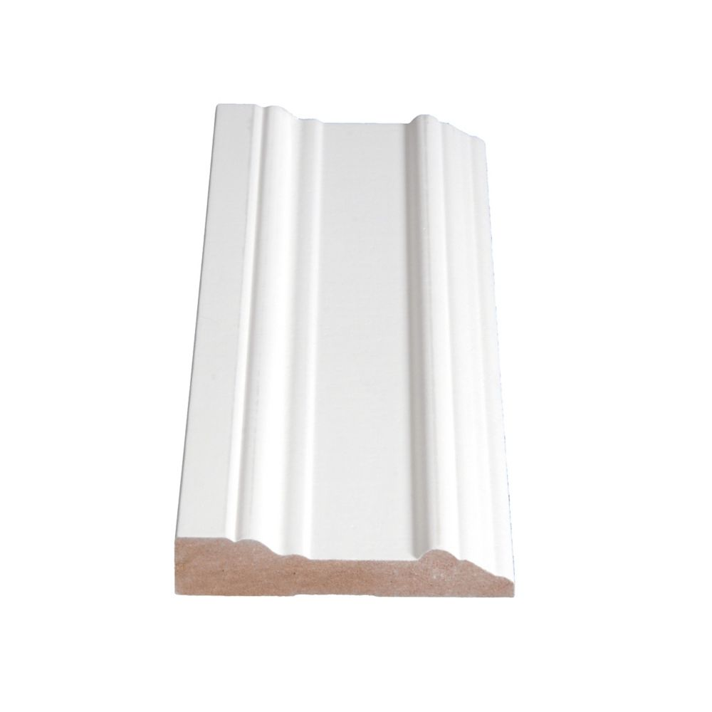 Primed Fibreboard Casing 11/16 In. x 3-1/2 In. (Price per linear foot)