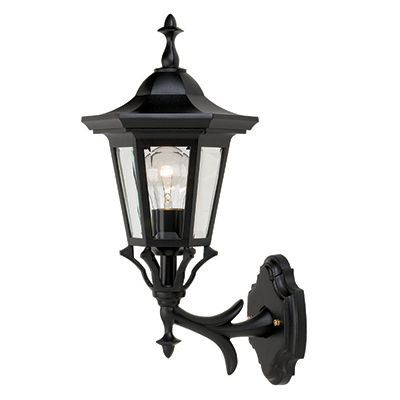 Prestige, Uplight Wall Mount, Clear Beveled Glass Panels, Black 81486BK Canada Discount