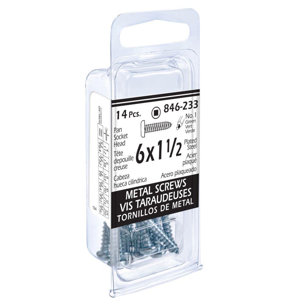 6x1-1/2 Pon Soc 14 Pc Metal Screw