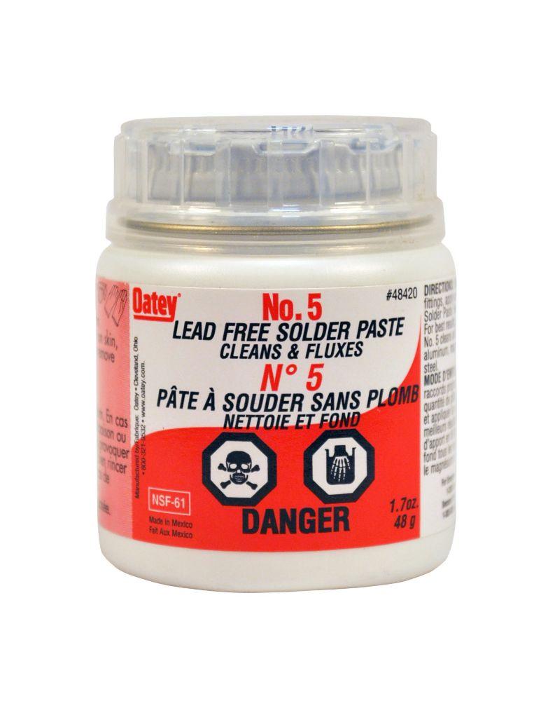 Oatey 1.7oz #5 Paste Flux 12 Pak Can