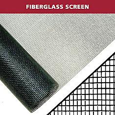 36-inch X 84-inch Black fibreglass Screen