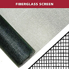 48-inch X 84-inch Black fibreglass Screen