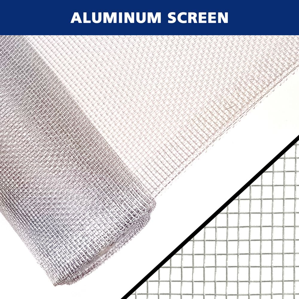 Moustiquaire en Aluminum Brillante 36 po x 84 po